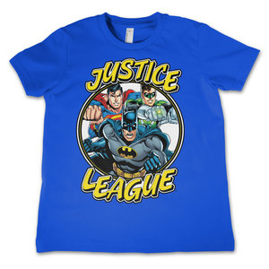 Justice League - Blauw Kinder T-shirt