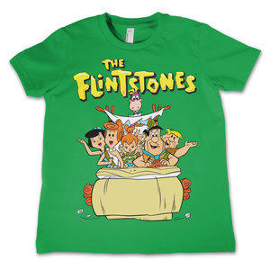 The Flintstone - Family - Groen Kinder T-shirt