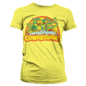 Ninja Turtles Teenage Mutant Cowabunga Dames Geel T-shirt