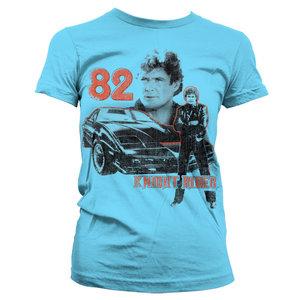 Knight Rider 1982 Dames Blauw T-shirt