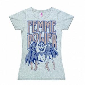 Femme Power DC Comics Dames Licht Blauw T-shirt