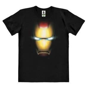 The Invincible Iron Man - Face - Marvel Heren Zwart easy-fit T-shirt