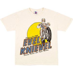 Evel Knievel Caesars Palace Heren T-shirt gebroken wit