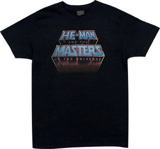 He-Man Masters of the Universe Heren Vintage Zwart T-shirt