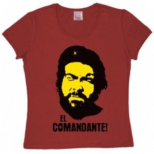 El Comandante! Dames Rood T-shirt