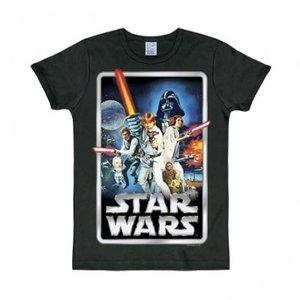 Star Wars Poster Heren Zwart slim-fit T-shirt