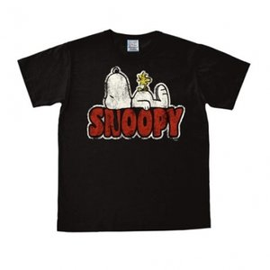 Peanuts - Snoopy - Woodstock - Zwart Heren easy-fit T-shirt