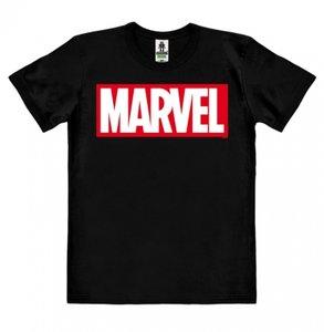 Marvel Logo Heren Organic easy-fit T-shirt zwart