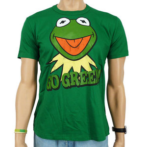 De Muppets - Kermit Go Green - Heren Groen easy-fit T-shirt
