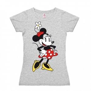 Disney Minnie Mouse Dames Grijs T-shirt