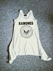 Ramones - Dames Wit Amplified Singlet