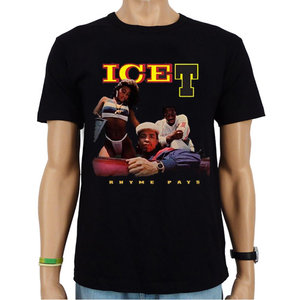 Ice T - Rhyme Pays- Hip Hop  Heren Zwart T-shirt