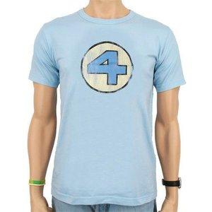 Fantastic Four - Vintage Logo - Heren Denim Blauw easy-fit T-shirt