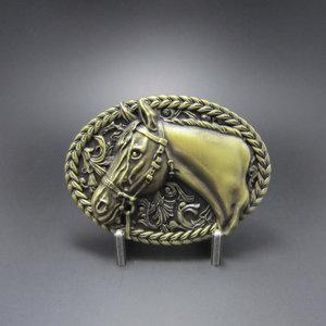 Paardenhoofd brons Riem Buckle/Gesp