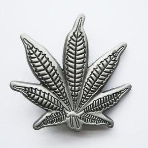 Wietblad Marihuana geborsteld Riem Buckle/Gesp