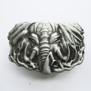 Aansteker wildlife olifant vintage geborsteld metalen Riem Buckle/Gesp