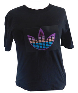 LED  T-Shirt- Bloem - Easy Fit - Black