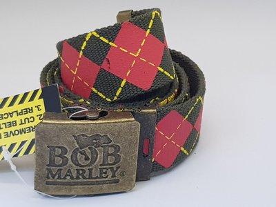 Bob Marley - Stoffen Riem - Makkelijk Verstelbare Koppel riem van stof - Military Belt - Heren en Vrouwen