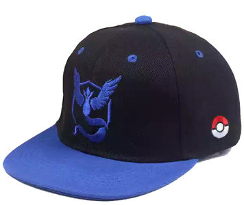 Pokemon go team Mystic - Logo Zwart blauwe Pet