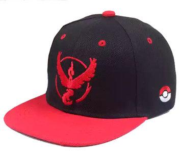 Pokemon go team Instinct - Logo Zwart rood Pet