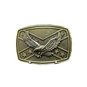 Confederate Adelaar Vlag Western brons  Riem Buckle/Gesp