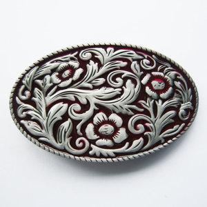 Cowgirl Flower Western rood Vintage Riem Buckle/Gesp