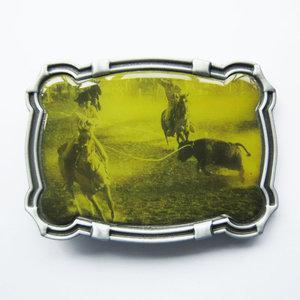 Bull Rodeo Cowboy Western Metal Riem Gesp/Buckle